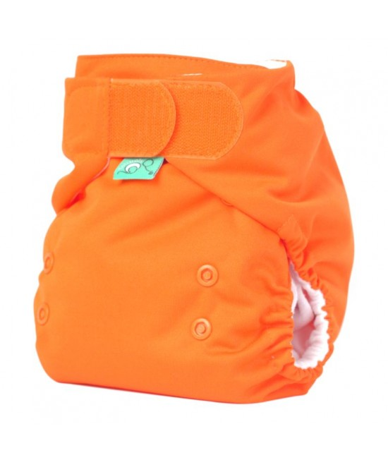 Scutec refolosibil Tots Bots EasyFit V4 Binky cu velcro Pumpkin (portocaliu)