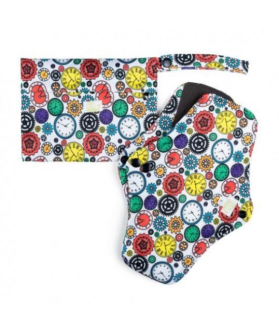 Set de 2 absorbante intime feminine lavabile Baba+Boo Large + borsetă impermeabilă Watchmaker