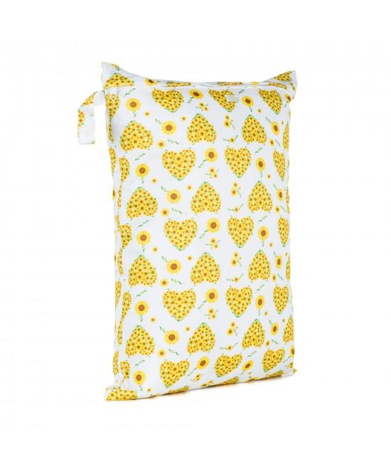Săculeț Baba+Boo mare impermeabil refolosibil - wet bag Sunflowers