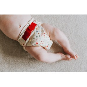 Scutec textil pentru nou-născuți - Baba+Boo Wildflowers