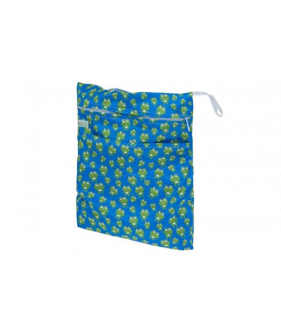 Sac (wet bag) Baba+Boo pentru depozitarea scutecelor - Master Frog (broscuțe)