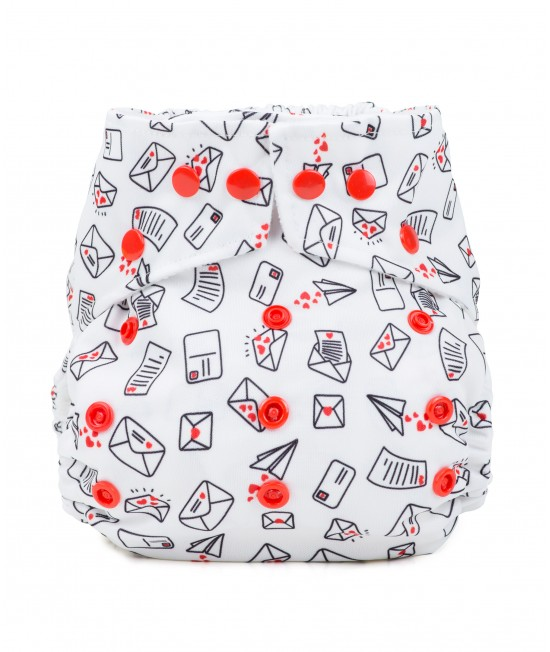 Scutec textil cu buzunar Baba+Boo Love Letters - varianta nouă