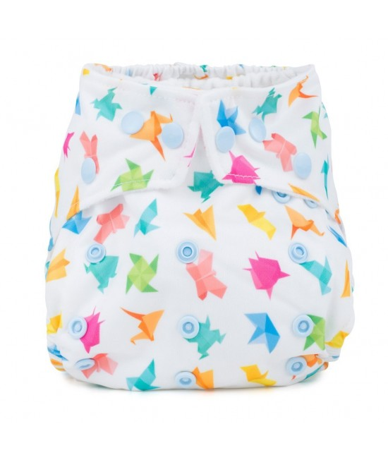 Scutec textil cu buzunar Baba+Boo Origami - varianta nouă