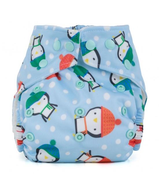 Scutec textil cu buzunar Baba+Boo Penguins - varianta nouă