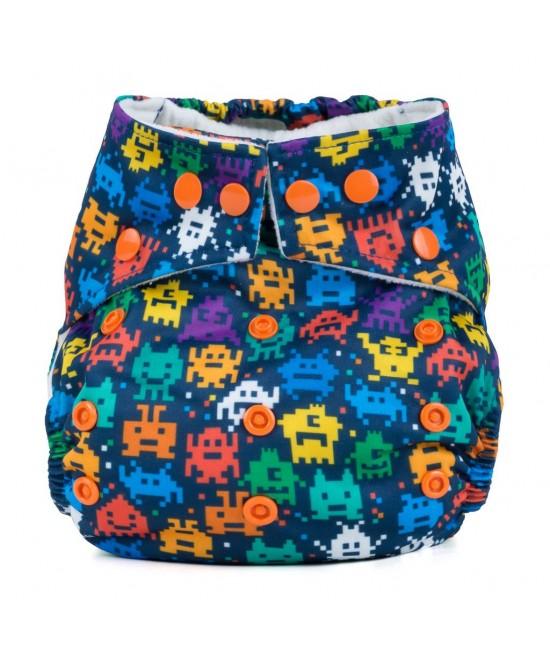 Scutec textil cu buzunar Baba+Boo Retro Arcade - varianta nouă