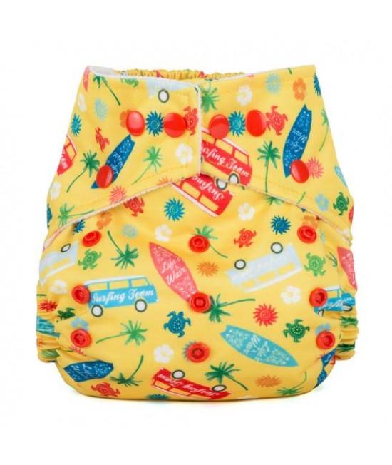 Scutec textil cu buzunar Baba+Boo Surf's Up? - varianta nouă