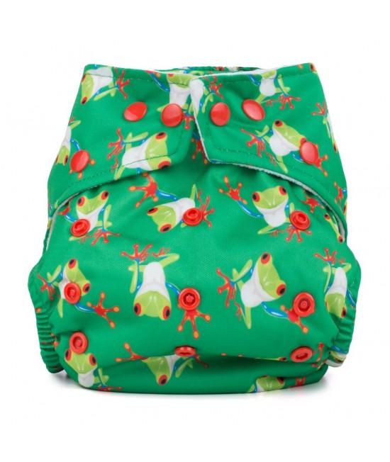 Scutec textil cu buzunar Baba+Boo Tree Frogs - varianta nouă