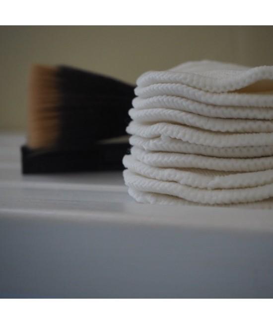 10 dischete demachiante refolosibile Baba+Boo din bumbac organic + săculeț pentru spălare