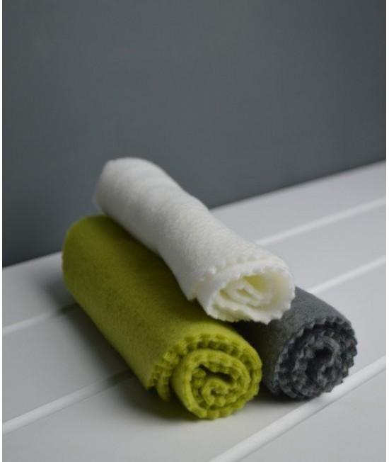 Linere Stay-Dry refolosibile albe din polar (fleece) Baba+Boo - mărime unică - set de 5 bucăți