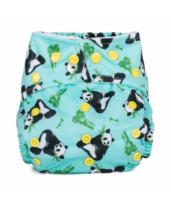 Scutec textil cu buzunar Baba+Boo Panda Bear - varianta nouă