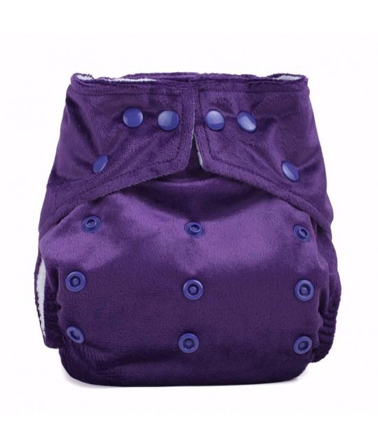 Scutec textil cu buzunar Baba+Boo Purple Minky - varianta nouă