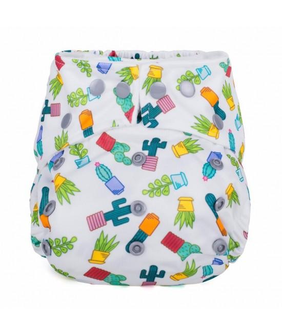 Scutec textil cu buzunar Baba+Boo Succulents - varianta nouă