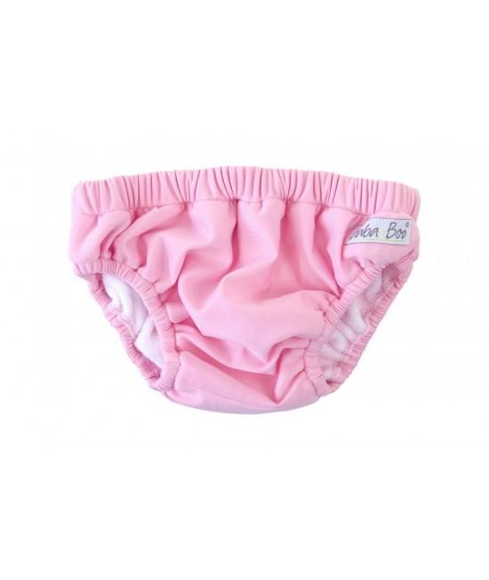 Slip pentru bebeluși - scutec refolosibil pentru înot Baba+Boo Pink (roz)