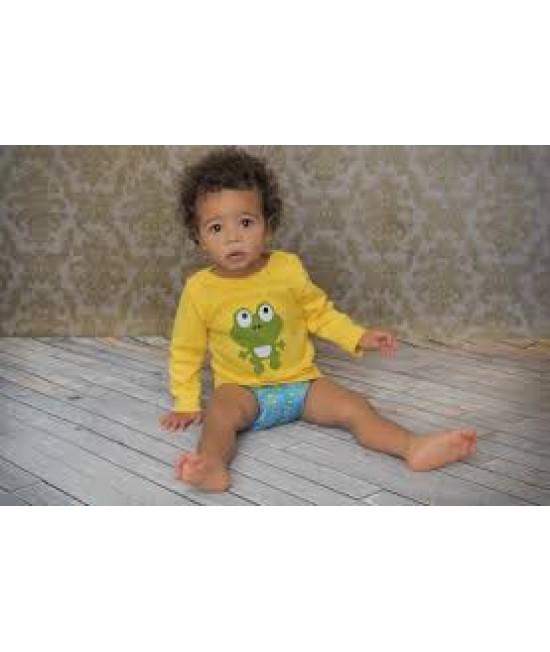 Tricou cu mânecă lungă din bumbac organic imprimat Baba+Boo Master Frog