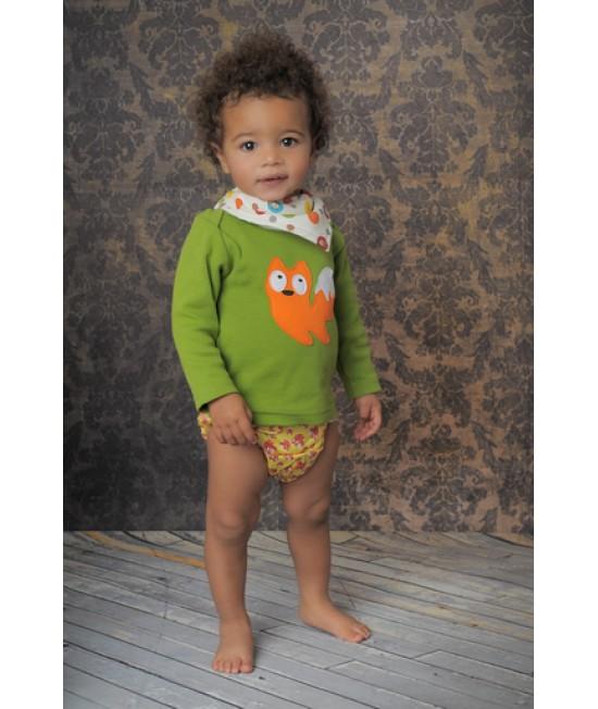 Tricou cu mânecă lungă din bumbac organic imprimat Baba+Boo Mr. Fox