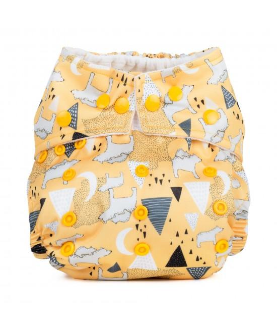 Scutec textil cu buzunar Baba+Boo Polar Bears