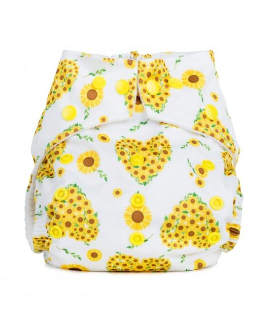 Scutec textil cu buzunar Baba+Boo Sunflowers - varianta nouă