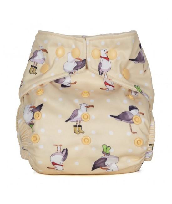 Scutec textil cu buzunar Baba+Boo Seagulls