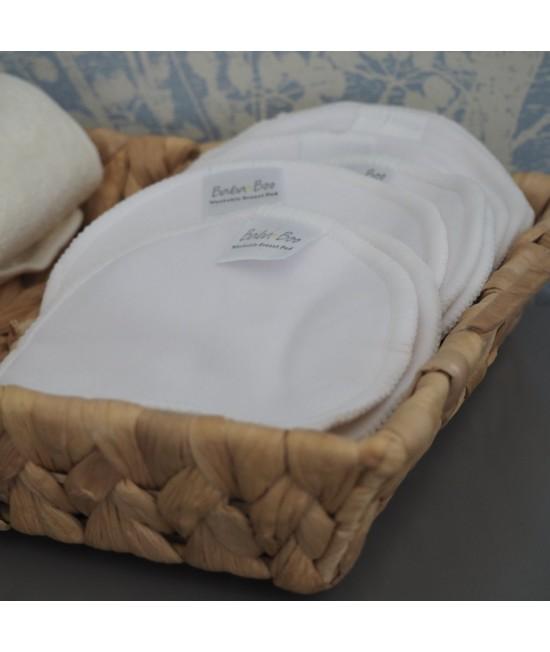 10 absorbante refolosibile Baba+Boo din bambus pentru sâni