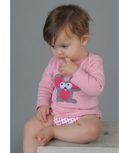 Tricou cu mânecă lungă din bumbac organic imprimat Baba+Boo Margot Mouse