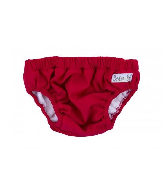 Slip pentru bebeluși - scutec refolosibil pentru înot Baba+Boo Red (roșu)