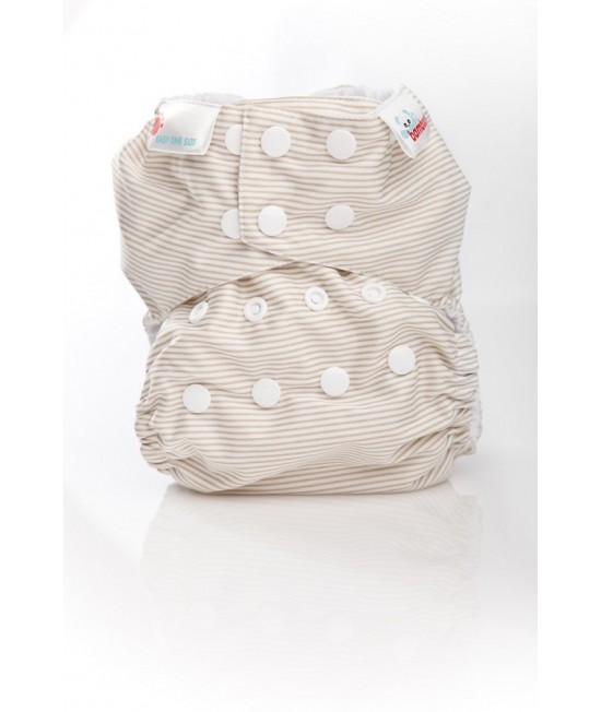 Scutec textil Bambooty Easy One Size AIO (All in one) - EOS Latte Stripes