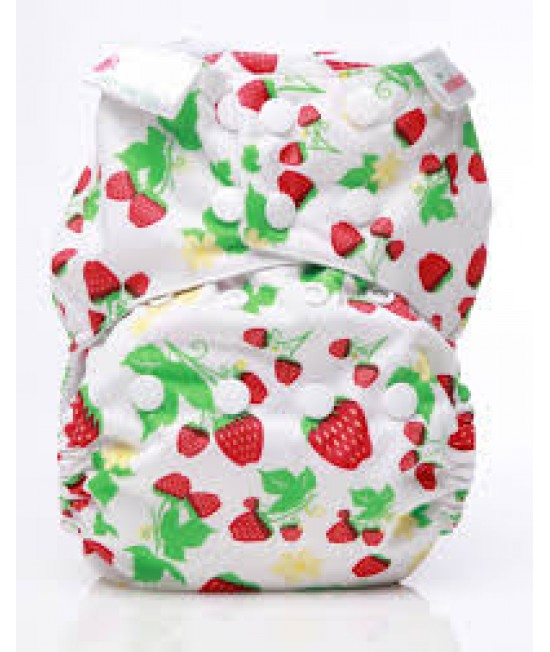 Scutec textil Bambooty Easy One Size AIO (All in one) - EOS Strawberries