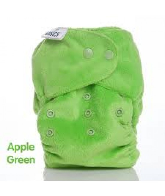 Scutec textil Bambooty BASICS AI2 (All in two) cu insert de BAMBUS - Apple Green Bamboo