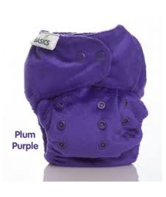 Scutec textil Bambooty BASICS AI2 (All in two) cu insert de BAMBUS - Plum Purple Bamboo