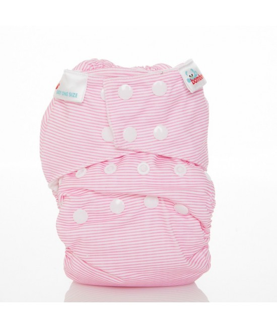 Scutec textil Bambooty Easy One Size AIO (All in one) - EOS Baby Pink Stripes