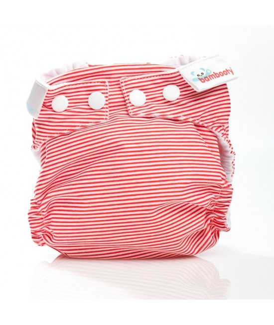 Scutec textil Bambooty Easy Nights Red Stripes
