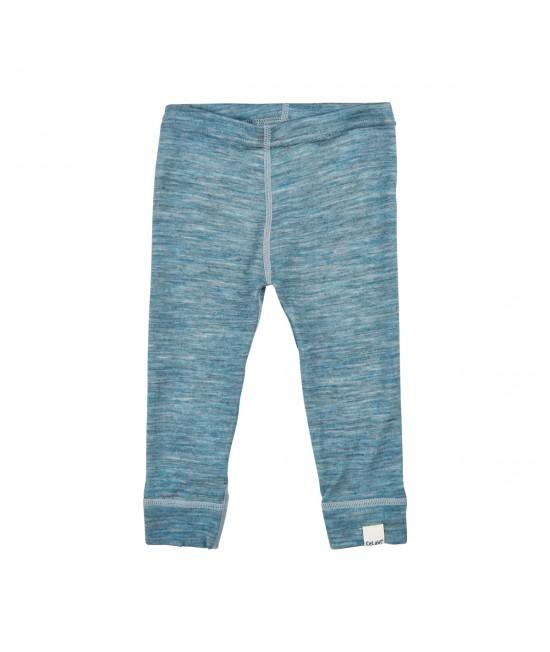 Pantaloni albaștri CeLaVi din lână Merino cu interior din bambus pentru bebeluși