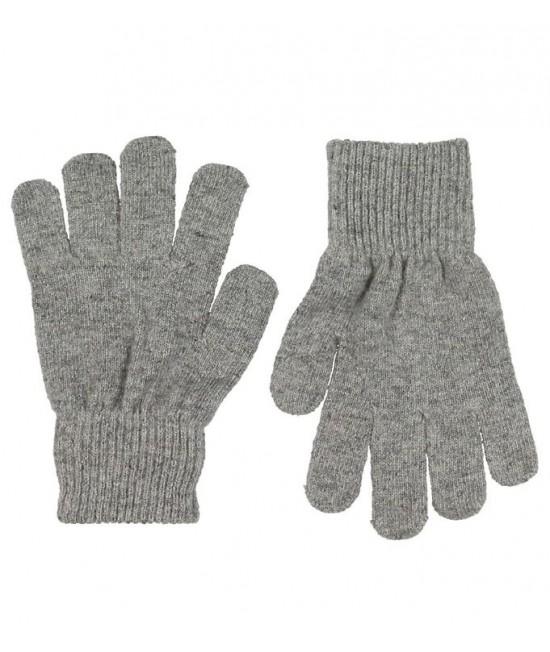 Mănuși tricotate din lână Merino CeLaVi Grey