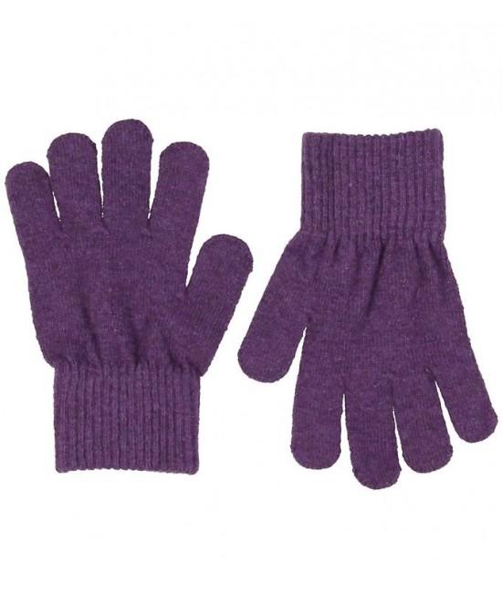 Mănuși tricotate din lână Merino CeLaVi Purple