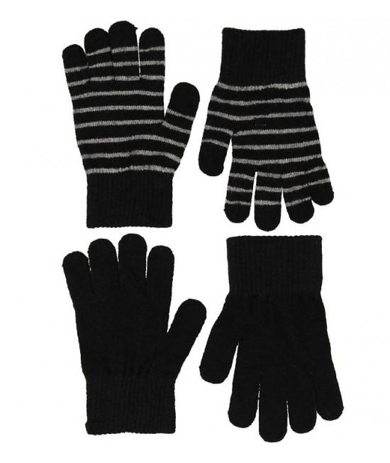 Set de 2 perechi de mănuși tricotate din lână Merino CeLaVi Black pentru copii