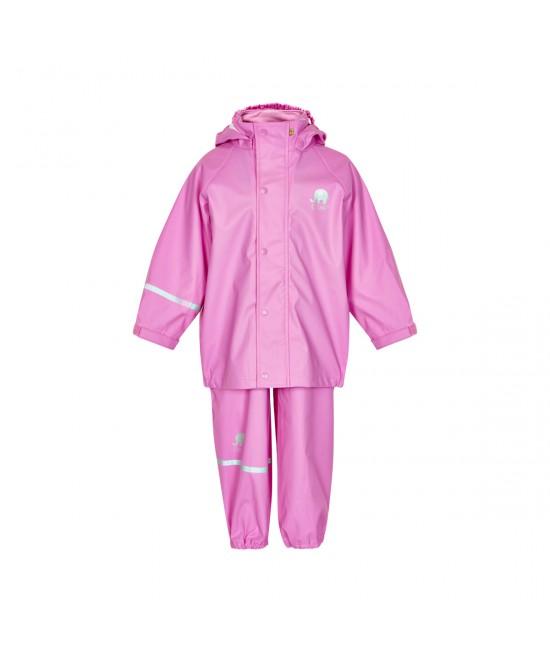 Set de ploaie și vânt CeLaVi jachetă+pantaloni/salopetă impermeabile roz cyclamen