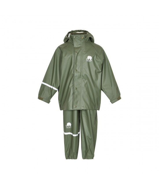 Set de ploaie și vânt CeLaVi jachetă+pantaloni/salopetă impermeabile verde army