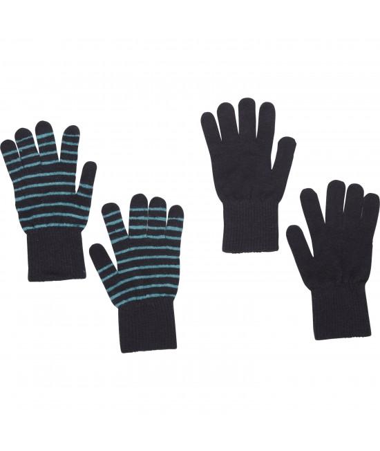 Set de 2 perechi de mănuși tricotate din lână Merino CeLaVi bleumarin pentru copii