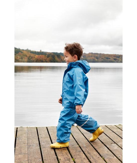 Set de ploaie și vânt CeLaVi jachetă+pantaloni/salopetă impermeabile albastru