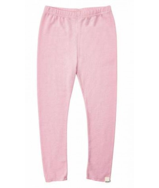 Pantaloni din lână Merinos CeLaVi - roz cu tiv dantelat