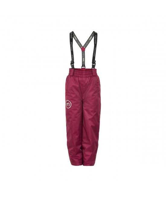 Pantaloni-salopetă pentru zăpadă (impermeabili căptușiți) Minymo vișinii