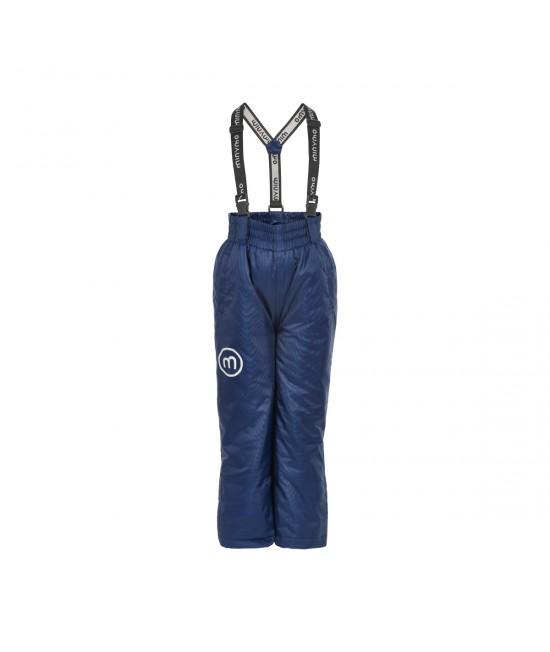 Pantaloni-salopetă pentru zăpadă (impermeabili căptușiți) Minymo albaștri