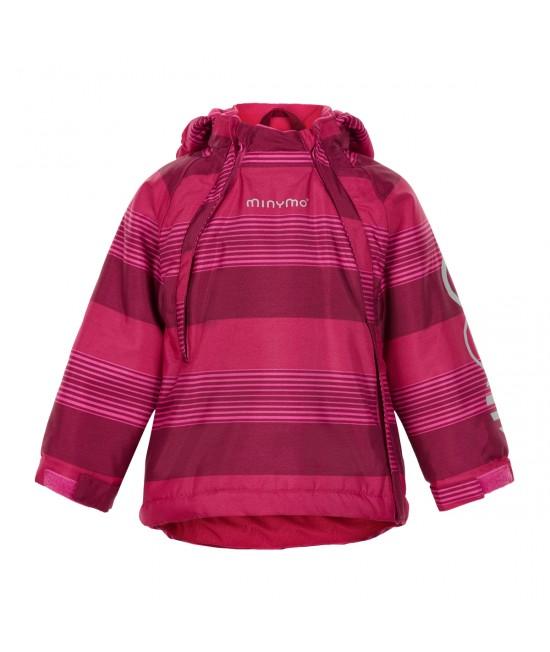 Jachetă pentru zăpadă (impermeabilă căptușită) Minymo vișinie
