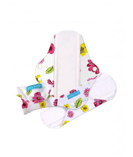 Set 3 absorbante intime lavabile Charlie Banana Blooms - Super (pentru noapte)