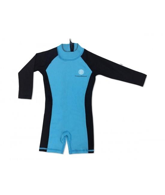 Salopetă cu filtru UV pentru protecție solară UPF50+ Charlie Banana Turquoise - pentru bebeluși și copii
