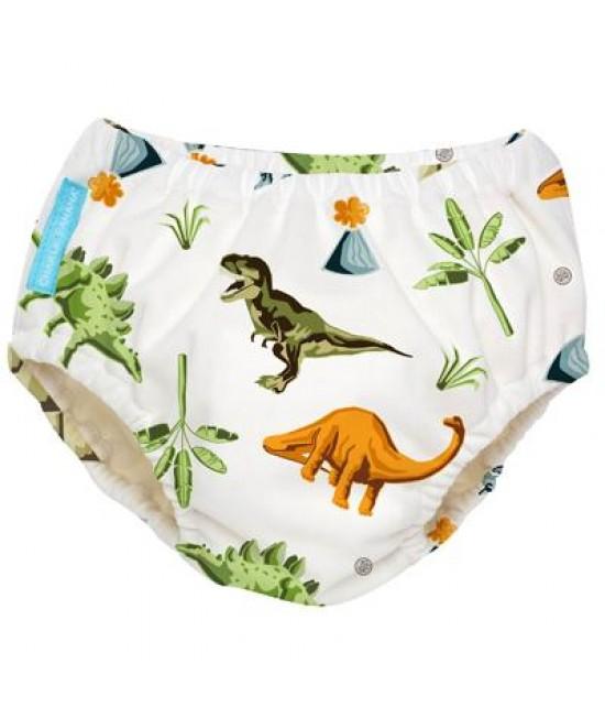 Scutec refolosibil de înot Charlie Banana - chiloți de antrenament pentru oliță - 2 în 1 Dinosaurs