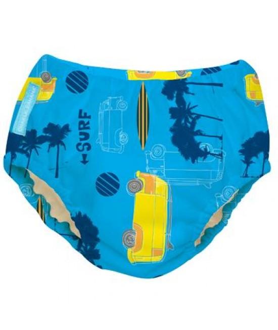 Scutec refolosibil de înot Charlie Banana - chiloți de antrenament pentru oliță - 2 în 1 Malibu