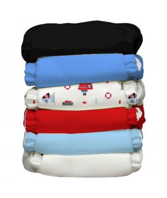 Set economic 6 scutece textile refolosibile Charlie Banana Ahoy