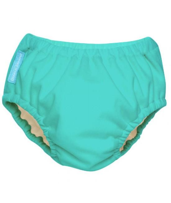 Scutec refolosibil de înot Charlie Banana Turquoise cu interior de Tencel