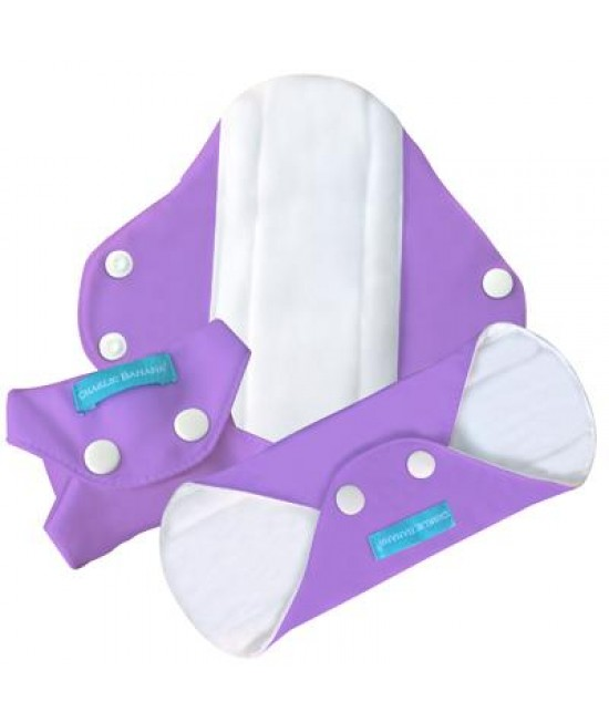 Set 3 absorbante intime feminine lavabile Charlie Banana Lavender - Regular